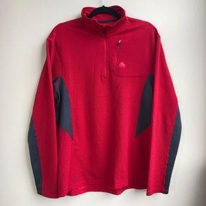 Nike ACG Mens Dri Fit Half Zip Pullover Sz L Red